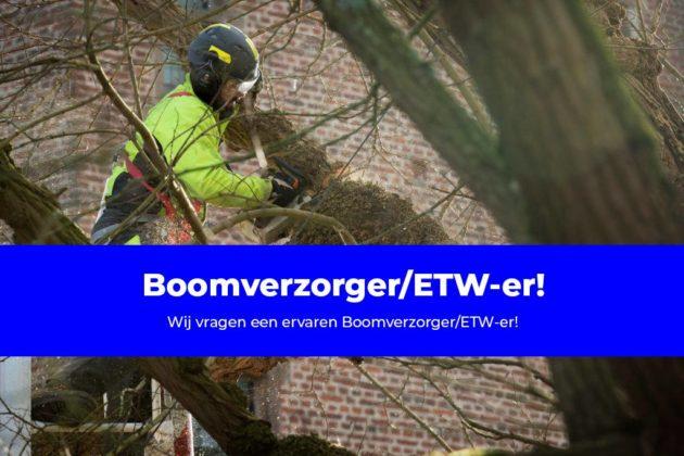 Wij vragen een ervaren Boomverzorger/ETW-er!